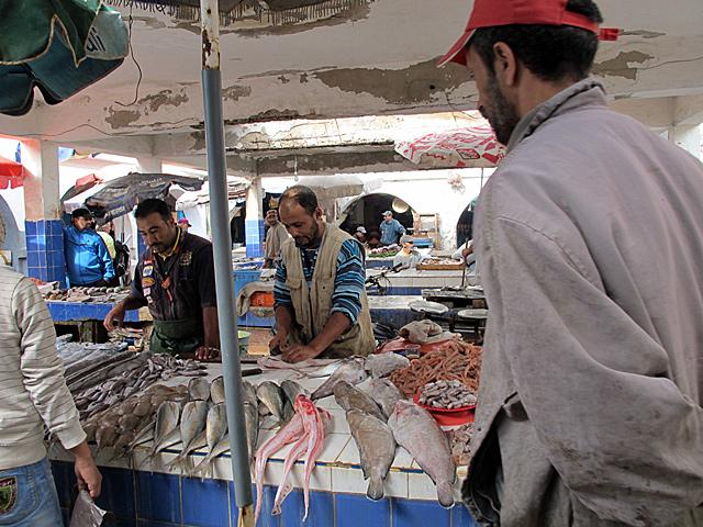 Fish market in Essaouira