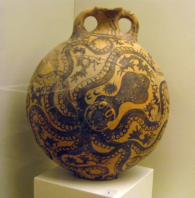 The famous octopus jug in Heraklion Museum